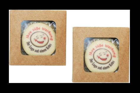 Marketing Ideen Kaffeebar Kekse mit Kundenlogo einzeln verpackt